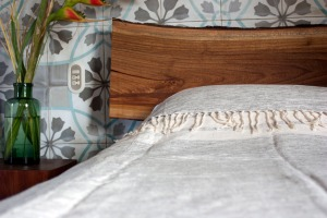 Closeup of Bed